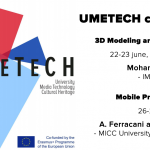 UMETECH courses: 3D Modeling and Scanning & Mobile Programming