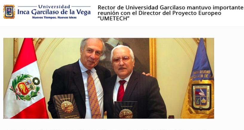 Prof. Del Bimbo (UNIFI) meets Dr. Luis Cervantes Liñán (UIGV) – OIDs Perù